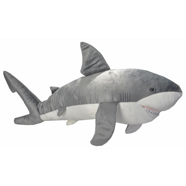 Giant Stuffed Shark jumbo plush shark 35 inch cuddlekinwild republic at stuffed safari