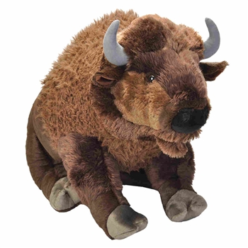 Cuddlekins Jumbo Bison Stuffed Animal by Wild Republic