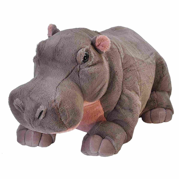 Jumbo Hippo Stuffed Animal Cuddlekins By Wild Republic Stuffed