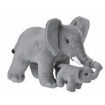 Mom and Baby Elephant Stuffed Animals by Wild Republic