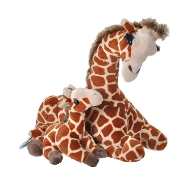 Mom and Baby Giraffe Stuffed Animals by Wild Republic