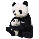 Mom and Baby Panda Stuffed Animals by Wild Republic