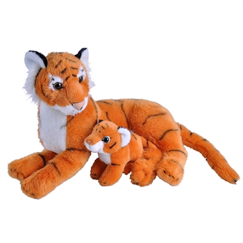 Mom and Baby Tiger Stuffed Animals by Wild Republic