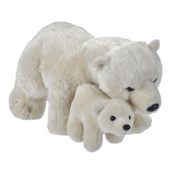 Mom and Baby Polar Bear Stuffed Animals by Wild Republic