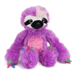 Purple Stuffed Sloth Sweet and Sassy Plush by Wild Republic