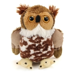 Hug Ems Small Great Horned Owl Stuffed Animal by Wild Republic