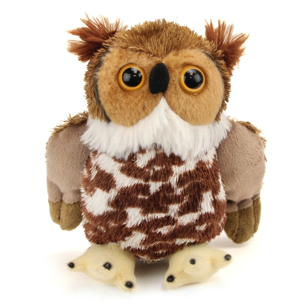 Small Great Horned Owl Stuffed Animal Hug Ems By Wild Republic
