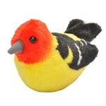 Plush Western Tanager Audubon Bird with Sound by Wild Republic