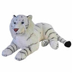 Cuddlekins Jumbo White Tiger Stuffed Animal by Wild Republic