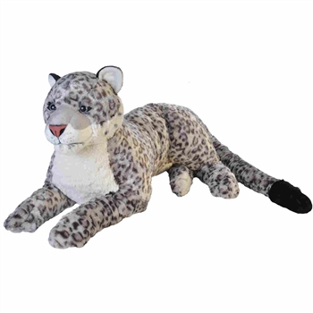 Cuddlekins Jumbo Snow Leopard Stuffed Animal by Wild Republic