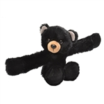 Huggers Black Bear Stuffed Animal Slap Bracelet by Wild Republic