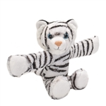 Huggers White Tiger Stuffed Animal Slap Bracelet by Wild Republic