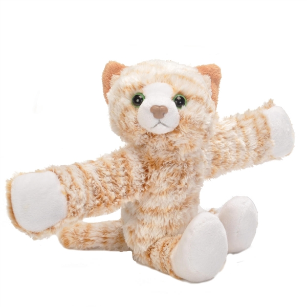 Orange Cat Stuffed Animal Slap Bracelet Wild Republic Huggers
