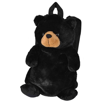 Plush Black Bear Backpack by Wild Republic