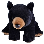 Sitting Stuffed Black Bear Traditional Plush by Wild Republic