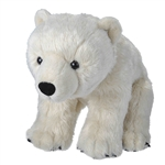 Sitting Stuffed Polar Bear Traditional Plush by Wild Republic