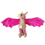 Huggers Pink Dragon Stuffed Animal Slap Bracelet by Wild Republic