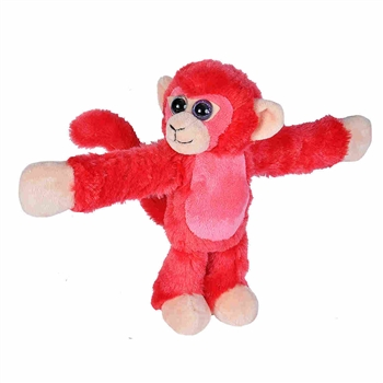Huggers Red Monkey Stuffed Animal Slap Bracelet by Wild Republic