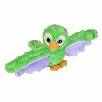 Huggers Green Parrot Stuffed Animal Slap Bracelet by Wild Republic