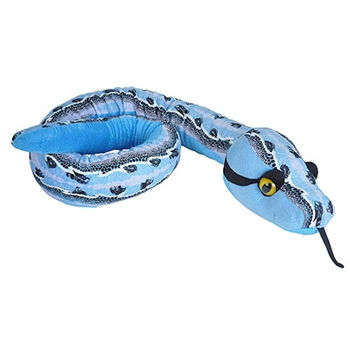 Slipstream Print 54 Inch Plush Blue Snake by Wild Republic
