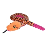 Tribal Print 54 Inch Plush Orange Snake by Wild Republic