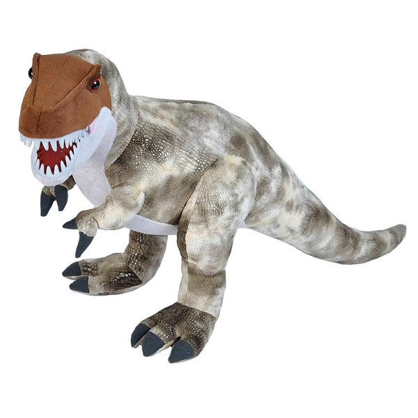 Big T Rex Stuffed Animal W Plastic Teeth Wild Republic Stuffed