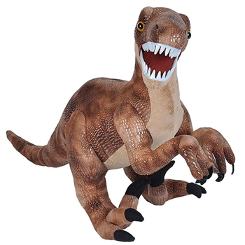 Big Velociraptor Stuffed Animal with Plastic Teeth by Wild Republic