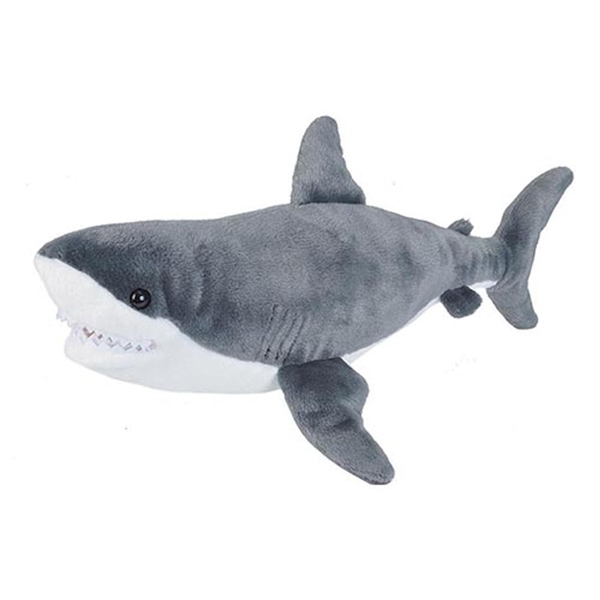 Aurora Tiburon Great White Shark Flopsie Plush Stuffed Animal 12