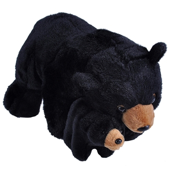 Mom and Baby Black Bear Stuffed Animals by Wild Republic