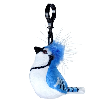Clip-On Blue Jay Stuffed Animal by Wild Republic