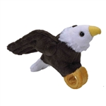 Plush Bald Eagle High Flyer Slap Bracelet with Sound by Wild Republic