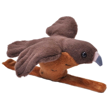 Plush Red Tailed Hawk High Flyer Slap Bracelet with Sound by Wild Republic