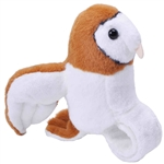 Plush Barn Owl High Flyer Slap Bracelet with Sound by Wild Republic
