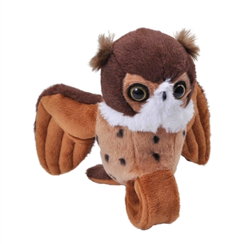 Plush Great Horned Owl High Flyer Slap Bracelet with Sound by Wild Republic