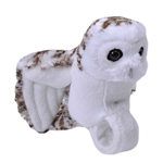 Plush Snowy Owl High Flyer Slap Bracelet with Sound by Wild Republic