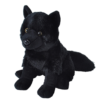 Cuddlekins Black Wolf Stuffed Animal by Wild Republic