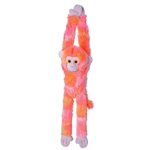 Bright Pink Hanging Monkey Stuffed Animal by Wild Republic