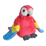 Small Plush Scarlet Macaw Lil' Cuddlekins by Wild Republic