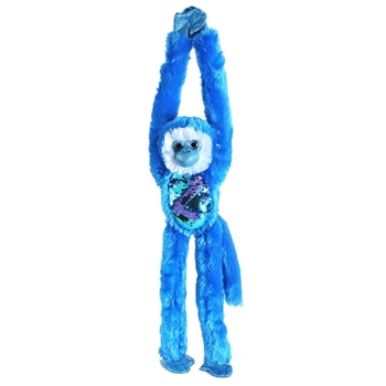 Blue Sequin Hanging Monkey Stuffed Animal by Wild Republic