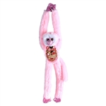 Pink Sequin Hanging Monkey Stuffed Animal by Wild Republic