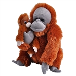 Mom and Baby Orangutan Stuffed Animals by Wild Republic