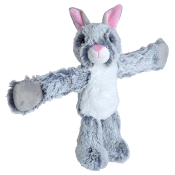 Huggers Gray Bunny Stuffed Animal Slap Bracelet by Wild Republic