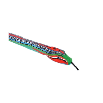 Red and Blue Print 54 Inch Plush Green Snake by Wild Republic