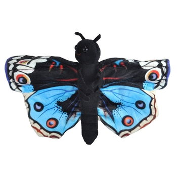 Blue Pansy Butterfly Stuffed Animal Slap Bracelet by Wild Republic