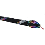 Black Plush 54 Inch Rainbow Twist Sequin Snake by Wild Republic