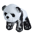 Silver Sequin Panda Bear Stuffed Animal by Wild Republic