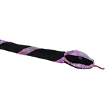 Black Plush 54 Inch Neon Twist Sequin Snake by Wild Republic