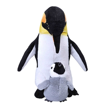 Mom and Baby Emperor Penguin Stuffed Animals by Wild Republic