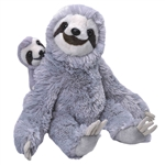 Mom and Baby Sloth Stuffed Animals by Wild Republic