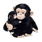 Mom and Baby Chimpanzee Stuffed Animals by Wild Republic